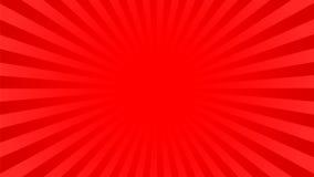 Φωτεινό κόκκινο υπόβαθρο ακτίνων διανυσματική απεικόνιση