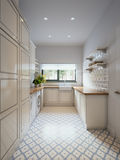Φωτεινό κλασικό παραδοσιακό δωμάτιο πλυντηρίων Στοκ φωτογραφία με δικαίωμα ελεύθερης χρήσης
