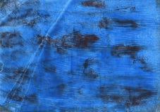 Φωτεινό μπλε ναυτικό αφηρημένο υπόβαθρο watercolor Στοκ Εικόνα