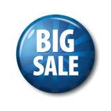 Φωτεινό μπλε στρογγυλό κουμπί με τη μεγάλη πώληση ` λέξεων ` Στοκ φωτογραφία με δικαίωμα ελεύθερης χρήσης