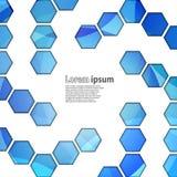 Φωτεινό μπλε hexagon ελεύθερη απεικόνιση δικαιώματος