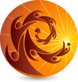 φωτεινό λογότυπο εκπαίδευσης Στοκ Εικόνες