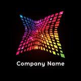 Φωτεινό λογότυπο ουράνιων τόξων χρωμάτων Περίληψη logotype Στοκ εικόνες με δικαίωμα ελεύθερης χρήσης