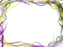 Φωτεινό πλαίσιο των χρωματισμένων κορδελλών στοκ εικόνα
