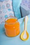 Φωτεινό πορτοκάλι πουρέ Στοκ Εικόνες
