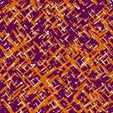 Φωτεινό πορτοκαλί και ιώδες άνευ ραφής σχέδιο αποκριών Κείμενο Grunge Στοκ φωτογραφίες με δικαίωμα ελεύθερης χρήσης