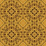Φωτεινό πορτοκαλί φανταστικό άνευ ραφής σχέδιο με τα φανταστικά φύλλα ι Στοκ φωτογραφίες με δικαίωμα ελεύθερης χρήσης
