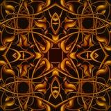 Φωτεινό πορτοκαλί φανταστικό άνευ ραφής σχέδιο με τα φανταστικά φύλλα ι Στοκ εικόνα με δικαίωμα ελεύθερης χρήσης