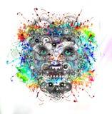 Φωτεινό πρόσωπο ρομπότ χρωμάτων Στοκ Εικόνες