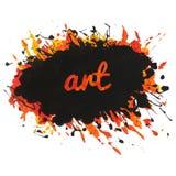 Φωτεινό σημείο χρωμάτων με τους παφλασμούς και την τέχνη κειμένων Ελεύθερη απεικόνιση δικαιώματος
