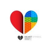 Φωτεινό σχέδιο συμβόλων καρδιών Στοκ Φωτογραφία