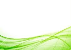 Φωτεινό σχεδιάγραμμα κυμάτων eco γεωμετρικό πράσινο ελεύθερη απεικόνιση δικαιώματος