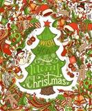 Φωτεινό υπόβαθρο Χαρούμενα Χριστούγεννας απεικόνιση αποθεμάτων