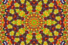 Φωτεινό υπόβαθρο χρώματος με το αφηρημένο σχέδιο Στοκ Εικόνες