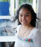 φωτεινό χαμόγελο Ταϊλανδός κοριτσιών Στοκ Φωτογραφία