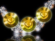 φωτεινό χρυσό κόσμημα καρδ&i Στοκ Φωτογραφίες