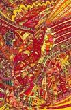 Φωτεινό χρωματισμένο υπόβαθρο doodle πυρκαγιάς αφηρημένο Στοκ Εικόνες