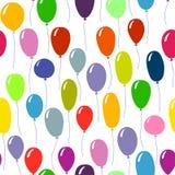 Φωτεινό χρωματισμένο ballons υπόβαθρο πρότυπο άνευ ραφής Στοκ Εικόνες