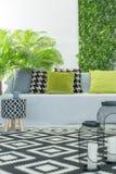 Φωτεινό δωμάτιο με τον καναπέ στοκ εικόνα με δικαίωμα ελεύθερης χρήσης