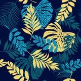 Φωτεινό όμορφο καλλιτεχνικό silhoue θερινών διανυσματικό άνευ ραφής σχεδίων απεικόνιση αποθεμάτων