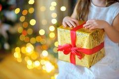 Φωτεινό δώρο Χριστουγέννων Στοκ Εικόνα