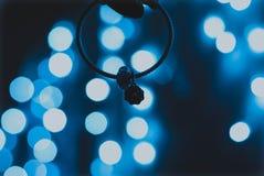 Φωτεινό bokeh των μπλε φω'των στοκ φωτογραφία με δικαίωμα ελεύθερης χρήσης