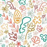 Φωτεινό floral άνευ ραφής σχέδιο ποτ πουρί ελεύθερη απεικόνιση δικαιώματος