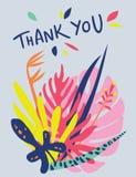 Φωτεινό floral σχέδιο καρτών Ελεύθερη απεικόνιση δικαιώματος