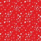 Φωτεινό hand-drawn άνευ ραφής σχέδιο καρδιών Στοκ φωτογραφία με δικαίωμα ελεύθερης χρήσης