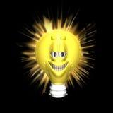 φωτεινό smiley ιδεών διανυσματική απεικόνιση