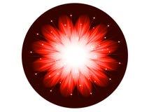 Φωτεινό Snowflake υπόβαθρο Στοκ εικόνα με δικαίωμα ελεύθερης χρήσης