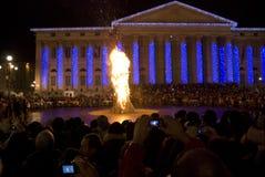 φωτιά Ιταλία Βερόνα Στοκ Εικόνες