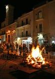 Φωτιά σε ένα παραδοσιακό λαϊκό φεστιβάλ στοκ φωτογραφία με δικαίωμα ελεύθερης χρήσης