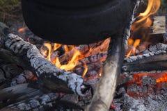 Φωτιά στα βουνά! Στοκ Φωτογραφίες