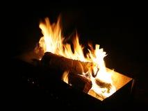 Φωτιά στη νύχτα Στοκ Εικόνες