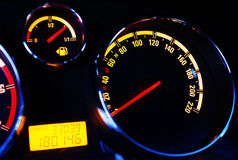φωτισμένη αυτοκίνητο επιτροπή νύχτας οργάνων Στοκ Εικόνα