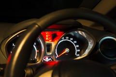 φωτισμένη αυτοκίνητο επιτροπή νύχτας οργάνων Στοκ Εικόνες