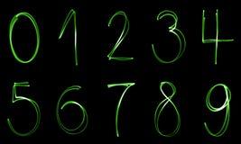 Φωτισμένοι αριθμοί Στοκ φωτογραφία με δικαίωμα ελεύθερης χρήσης