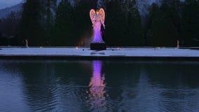 Φωτισμένος άγγελος Schloss Hellbrunn, Σάλτζμπουργκ Χριστουγέννων φιλμ μικρού μήκους