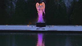 Φωτισμένος άγγελος Schloss Hellbrunn, Σάλτζμπουργκ Χριστουγέννων απόθεμα βίντεο