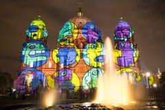 Φωτισμένος καθεδρικός ναός του Βερολίνου Στοκ Φωτογραφία
