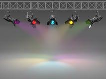 φωτισμένος πολύχρωμος τοίχος επικέντρων απεικόνιση αποθεμάτων