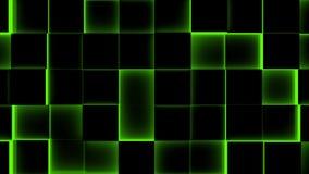 Φωτισμένος υπόβαθρο-άνευ ραφής βρόχος κύβων - 4K - άνευ ραφής βρόχος διανυσματική απεικόνιση