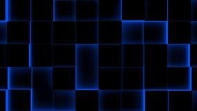 Φωτισμένος υπόβαθρο-άνευ ραφής βρόχος κύβων - 4K - άνευ ραφής βρόχος ελεύθερη απεικόνιση δικαιώματος