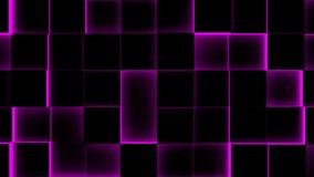 Φωτισμένος υπόβαθρο-άνευ ραφής βρόχος κύβων - 4K - άνευ ραφής βρόχος απεικόνιση αποθεμάτων