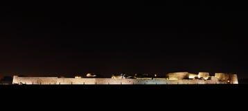 Φωτισμένο οχυρό του Μπαχρέιν Στοκ Εικόνες