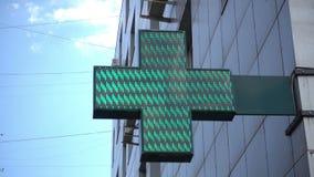 Φωτισμένο σημάδι φαρμακείων Στοκ φωτογραφία με δικαίωμα ελεύθερης χρήσης