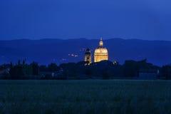 Φωτισμένο degli Angeli Di Σάντα Μαρία βασιλικών Στοκ εικόνα με δικαίωμα ελεύθερης χρήσης