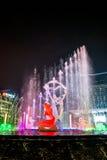 Φωτισμένο Hangzhou τετράγωνο οικοδόμησης Wishan Στοκ Εικόνες