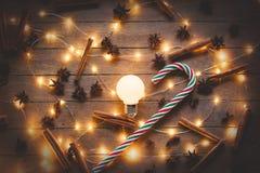Φωτισμοί διακοπών και lollinpop στοκ εικόνα με δικαίωμα ελεύθερης χρήσης